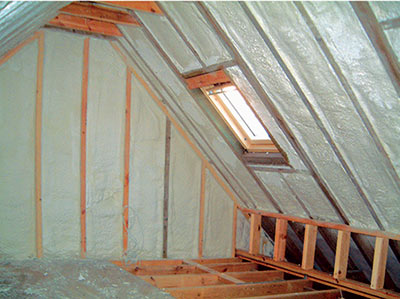 an insulated attic