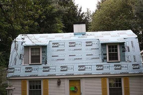 an underlayed roof