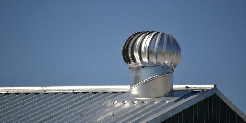 a metal roof on a sunny day