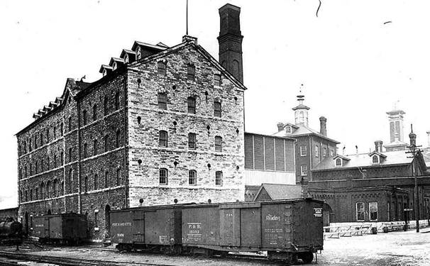 early 1900s building in toronto distillery district